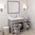 Cashmere Grey, Dazzle White Quartz, Left Square Sink Opened View