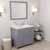 Grey, Dazzle White Quartz, Left Square Sink Angular View
