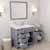 Grey, Dazzle White Quartz, Left Square Sink Opened View