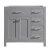 Virtu USA 36'' Caroline Parkway Left or Right Drawers Single Vanity