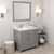 Cashmere Grey, Dazzle White Quartz, Right Round Sink Angular View