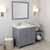 Grey, Dazzle White Quartz, Right Round Sink Angular View