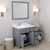 Grey, Dazzle White Quartz, Right Round Sink Opened View
