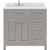 Cashmere Grey, Dazzle White Quartz, Right Square Sink - No Mirror