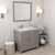 Cashmere Grey, Dazzle White Quartz, Right Square Sink Angular View