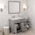 Cashmere Grey, Dazzle White Quartz, Right Square Sink Opened View