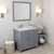 Grey, Dazzle White Quartz, Right Square Sink Angular View