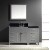 "Virtu USA Caroline Parkway 57"" Single Bathroom Vanity Cabinet Set"
