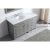 "Virtu USA Caroline Parkway 57"" Single Bath Vanity Set in Cashmere Grey w/ Italian Carrara White Marble Countertop, Round Sink, Polished Chrome Faucet and Mirror, Base Cabinet: 56"" W x 22-1/16"" D x 34-11/16"" H"