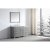 "Virtu USA Caroline Parkway 57"" Single Bath Vanity Set in Cashmere Grey w/ Italian Carrara White Marble Countertop, Square Sink, Brushed Nickel Faucet and Mirror, Base Cabinet: 56"" W x 22-1/16"" D x 34-11/16"" H"