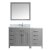 "57"" Vanity Set Cashmere Grey w/ Top, Square Sink, Faucet, Mirror Product View"