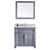 "Virtu USA Victoria 36"" Single Bathroom Vanity Cabinet Set"