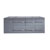 """Virtu USA Ceanna 55"""" Cabinet Only in Grey Finish"""