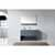 Virtu USA Gloria 48'' Single Bath Vanity Set, Slim White Ceramic Top with Integrated Square Sink in Grey