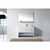 Virtu USA Gloria 48'' Single Bath Vanity Set, Slim White Ceramic Top with Integrated Square Sink in White