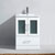 White w/ Ceramic Top - No Mirror