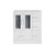 """Virtu USA Zola 30"""" Cabinet Only in White Finish"""