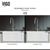 Vigo Kitchen Sink Reversible Front
