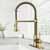 Vigo Matte Gold with Deck Plate Lifestyle View