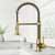 Vigo Matte Gold with Soap Dispenser Lifestyle View