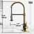 Vigo Matte Gold/Matte Black with Deck Plate Product Dimensions