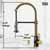 Vigo Matte Gold/Matte Black with Soap Dispenser Product Dimensions
