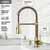Vigo Matte Gold with Soap Dispenser Product Dimensions