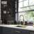 Vigo Matte Gold with Soap Dispenser Lifestyle 2