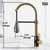Vigo Matte Gold/Matte Black Faucet Product Dimensions