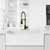 Vigo Matte Gold/Matte Black with Deck Plate Lifestyle 2