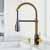 Vigo Matte Gold/Matte Black with Soap Dispenser Lifestyle 1