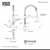 Vigo Stainless Steel Faucet Dimensions