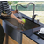Vigo Stainless Steel Curved Wide Pull-Out Spray Kitchen Faucet