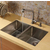 Vigo Stainless Steel Straight Wide Pull-Out Spray Kitchen Faucet