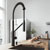 Matte Black Faucet with Soap Dispenser - Illustration