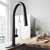 Vigo Matte Black with Deck Plate Lifestyle View