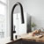 Matte Black Faucet with Soap Dispenser - Illustration