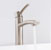 "Vigo Milo Vessel Bathroom Faucet in PVD Brushed Nickel, Faucet Height: 12-1/2"", Spout Height: 9-1/2"", Spout Reach: 5"""