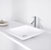 "Vigo Begonia Matte Stone Vessel Bathroom Sink in Matte White, 16-5/8"" W x 16-5/8"" D x 3-1/2"" H"
