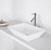 "Vigo Vinca Matte Stone Vessel Bathroom Sink in Matte White, 18-1/8"" W x 13-3/4"" D x 4-1/2"" H"