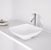 "Vigo Hyacinth Matte Stone Vessel Bathroom Sink in Matte White, 13-3/4"" W x 13-3/4"" D x 3-1/2"" H"