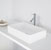 "Vigo Magnolia Matte Stone Vessel Bathroom Sink in Matte White, 21-1/16"" W x 13-1/16"" D x 4-3/4"" H"