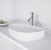 "Vigo Peony Matte Stone Vessel Bathroom Sink in Matte White, 20-1/4"" W x 15-1/2"" D x 5"" H"
