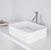 """Vigo Jasmine Matte Stone Vessel Bathroom Sink  in Matte White, 18"""" W x 14-1/2"""" D x 5"""" H"""
