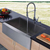 Vigo Farmhouse Stainless Steel Kitchen Sink, Faucet and Dispenser
