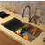Vigo Undermount Stainless Steel Kitchen Sink, Faucet and Dispenser