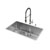 "Vigo VIG-VG15163, All in One 32-inch Undermount Stainless Steel Kitchen Sink and Faucet Set , 16 Gauge, 32"" W x 19"" D x 10"" H, Stainless Steel"