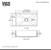 """30"""" Sink Set w/ Edison Faucet Product Dimensions"""