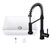"""30"""" Sink Set w/ Edison Faucet Included Items"""