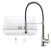 """33"""" Sink Set w/ Edison Faucet Included Items"""